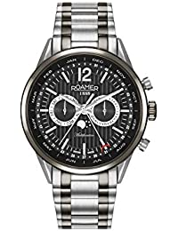 Roamer Men's Quartz Watch with Black Dial Analogue Display and Two Tone Stainless Steel Bracelet 508822 40 54 50