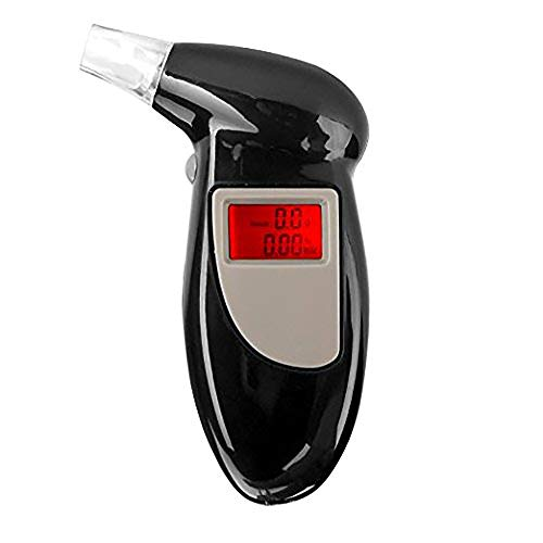 Wenquan,Alcoholímetro portátil Breath Alcoholímetro Digital Display Digital(Color:Negro)