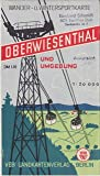 Oberwiesenthal und Umgebung Wanderkarte DDR