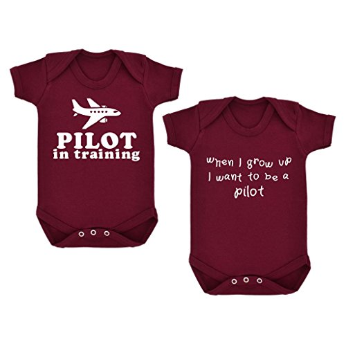 2er-pack-pilot-in-training-when-i-grow-up-baby-bodys-marron-mit-weiss-print-gr-68-rot-maroon