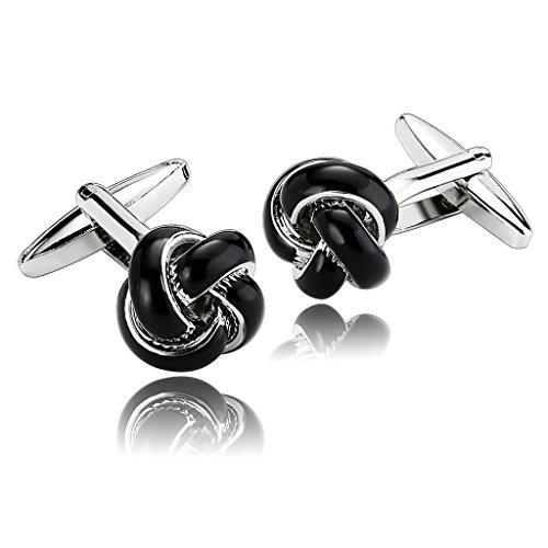 epinki-men-stainless-steel-polished-flower-core-black-shirt-cufflinks-wedding-business