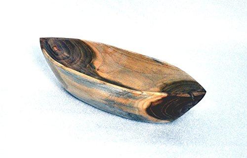 wohnfreuden Teakholz Schale oval 31x11x5 cm Schiffchen Teakschale Aufbewahrung Dekoration
