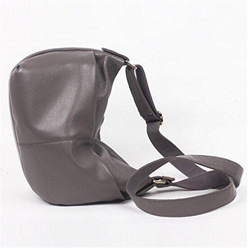 neue leder im mittleren alter cowboy handtaschen schulter messenger hellgrau