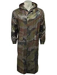 Unisex 100% Waterproof Adults Long Camouflage Waterproof Cagoule Rain Coat Jacket