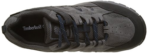 Timberland Herren saddler Pass Fabric and Leather WP Oxfords Grau (Graphite Suede With Navy 018)