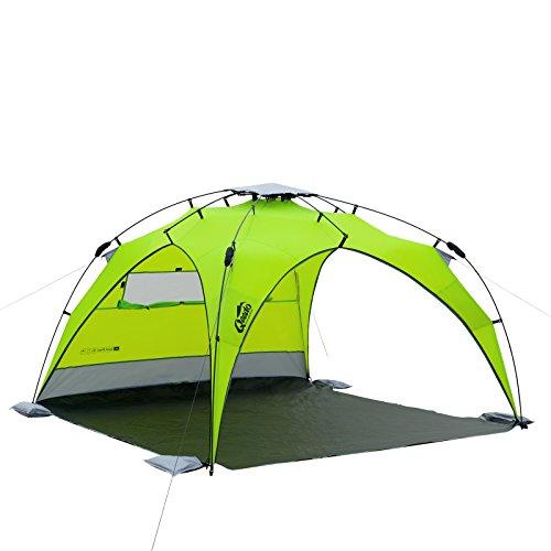 Qeedo - Quick Plane Familien Strandmuschel mit UV-Schutz (Strandpavillon) - grün