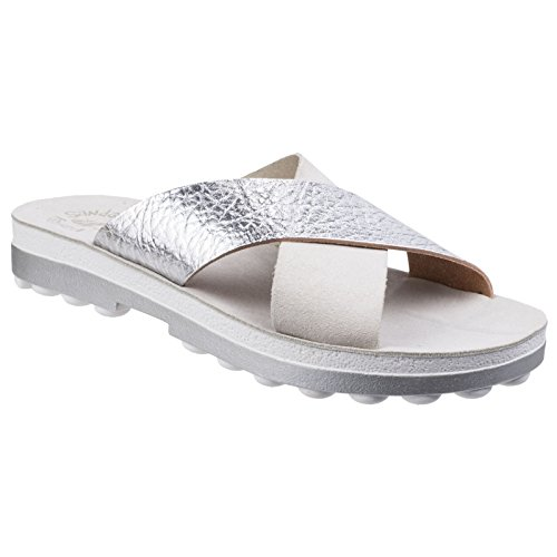 31f4fb34887207 Fantasy Womens Ladies Charis Slip-On Cross Over Strap Summer Sandals