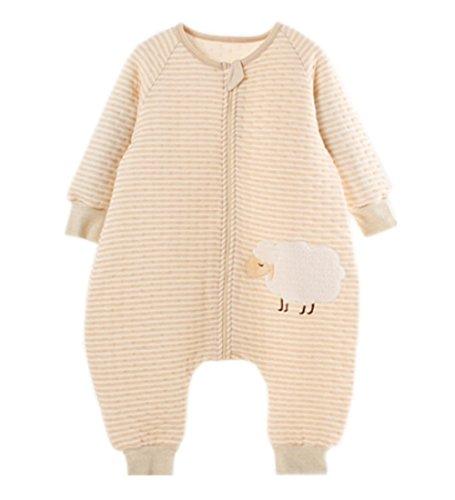 Preisvergleich Produktbild LifeWheel Baumwolle Baby Winter Schlafsack Kinderschlafsack mit Langarm und Füßen Für 6-60 Monate