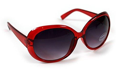 Giftsbynet Damen Sonnenbrille Rot Rot
