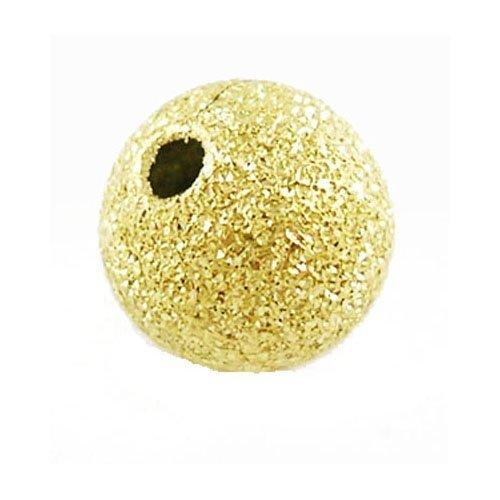Pacco 150+ D'Oro Ottone Placcato 4mm Distanziatore Satinato Tondo - (HA01932) - Charming Beads