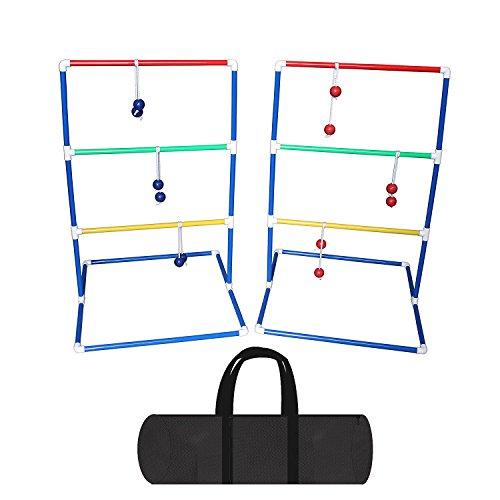 Leiter Golf Ball für Toss Spiel, Leiter Golf Ball Werfen Tür ideal für Camping Spiel, 6Paar Pack (3Paar Blau und 3Paar Rot) mit 2* Regalen und Tragetasche -