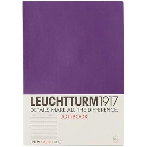 LEUCHTTURM1917 Jottbook 343057 - Cuaderno de notas (A4), hojas rayadas, color morado