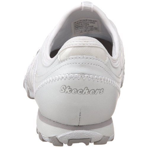 Skechers Bikers Dream-Come-True, Chaussons Sneaker Femme Blanc (Wlgy)