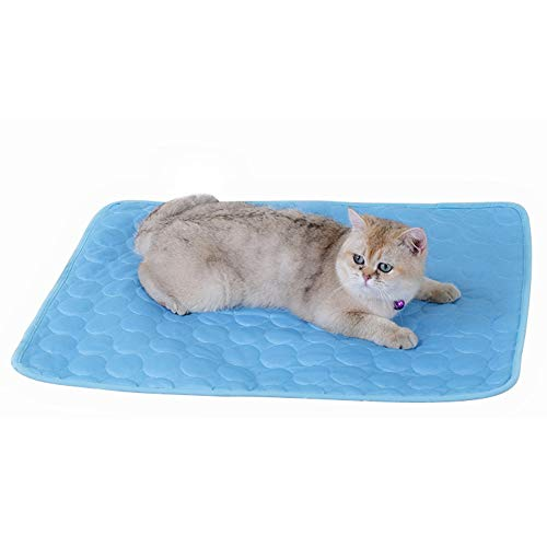 Blue Mühelos Baumwolle (IEUUMLER Sommer Pad Zwinger Pad Pet Cooling Pad Breathable Kühlmatte Schlafmatte für Hunde Katzen IE091 (L, Blue))