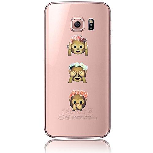 Samsung Galaxy S6 Edge Plus Caso, Samsung Galaxy S6 Edge Plus Cover, Bonice Ultra Sottile PC Hard Back Antiurto Shock-Absorption Durable Case Love + 1x Protezione Dello Schermo Screen Protector model 4