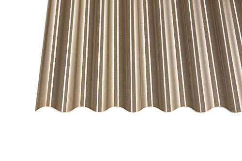 Acryl Wellplatten Profilplatten Sinus 76/18 C-Struktur bronce 3 mm (2000 x 1045 x 3 mm)
