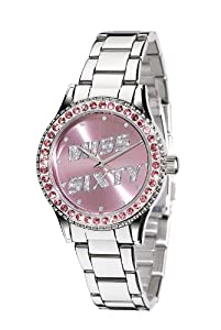 Miss Sixty Just time SR4004 - Reloj para niñas de cuarzo, correa de acero inoxidable color plata de Miss Sixty