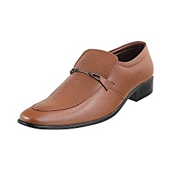 Metro Men Tan Leather Flat Shoes