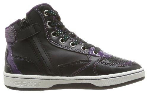 Geox J Maltin G C, Baskets mode fille Noir (Black)