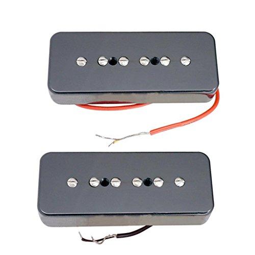 Sharplace 2 Stück Hochwertige P90 Soapbar Single Coil Humbucker Pickups Für LP Epi Gitarre Teile - Schwarz