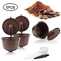 Pawaca Cápsulas Filtros de Café Recargable Reutilizable para Cafetera Dolce Gusto Resistente Más de 150 Usos