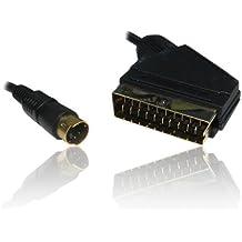 CDL Micro-1,5 m SCART a SVHS/S-VHS, Cavo S-Video e Video/DVD per PC