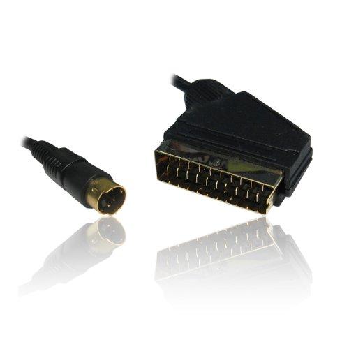 CDL Micro 1,5m Scart zu SVHS/S-VHS S-Video Kabel Wire Video/DVD auf PC