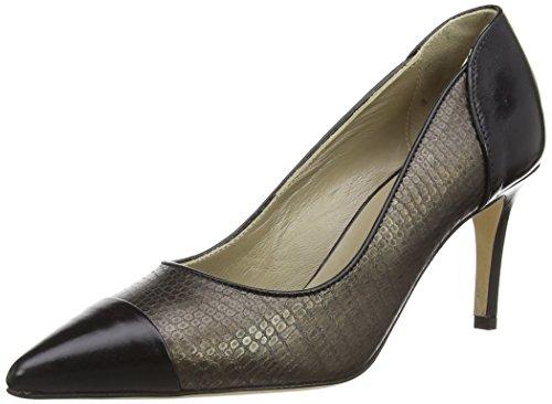 Noe Antwerp Nino, Chaussures à talons - Avant du pieds couvert femme Multicolore - Mehrfarbig (BRONZE/NERO 1004-1)