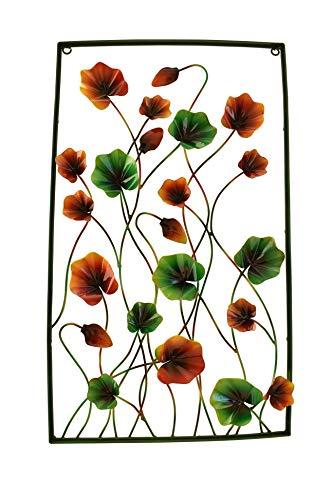Klp Wanddeko Wandbild Metall Deko Bild Artikel Blume Blätter Wandschmuck Skulptur -