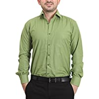 The Standard Men's Cotton and Viscose Formal Shirt, 42 (SKU0200, Green)
