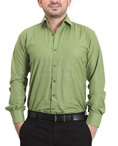 The Standard Men's Cotton Formal Shirt(Green,SKU0200_40)