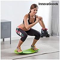 InnovaGoods IG114031 Tabla de Equilibrio con Guía de Ejercicios, Unisex Adulto, Verde, Talla Única