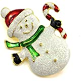 HuaYang Alloy Festival Brooch Pin for Christmas Theme Party Decoration Gift(Pattern: Snowman)