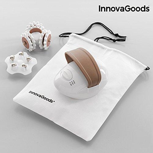 41q299Rb8sL - InnovaGoods IG114871 - Masajeador anticelulitico electrico con 2 cabezales, 9 W