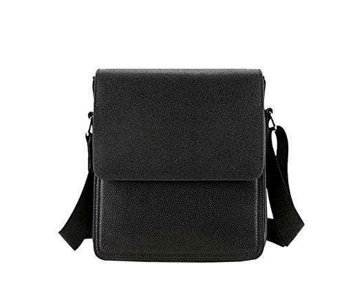Yy.f Herrenmode Business-Tasche Herren Ledertasche Dünn Klassisch Praktische Office Bag Computer Tasche Reisetasche. (Schwarz Und Braun) Brown