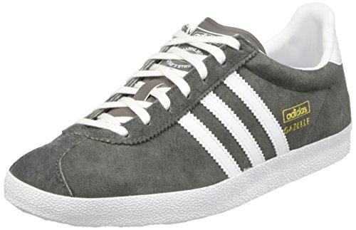 adidas Originals Gazelle OG S78874, Damen Low-Top Sneaker, Grau (Ash/Ftwr White/Gold Met), EU 37 1/3