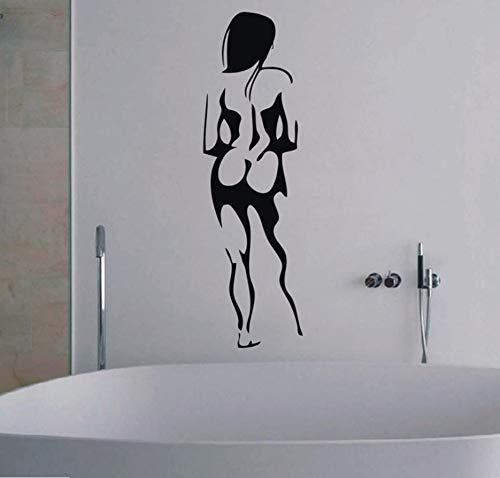Europa nackte frauen porträt wasserdicht vinyl wandtattoo aufkleber für bad glas Bar KTV dekoration 100x30 cm - Europa Bad Bar