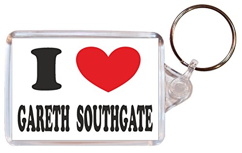 I Love Gareth Southgate - Double Sided Large Keyring Name Tag Novelty Gift/Present