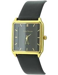 Philip Mercier SML55/C - Reloj analógico de cuarzo para hombre con correa de plástico, color negro