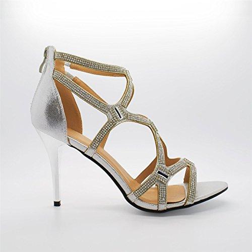 London Footwear , Bride de cheville femme Argent - argent