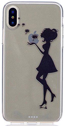 """Coque Iphone X Edition, Iphone X Case, Iphone X Coque, Iphone X Protection, Coque Iphone 10 euros, Nnopbeclik® """"Mignonne Motif"""" Imprimé Colorful Style Flexible Protection en TPU Gel Silicone Soft/Doux fille"""