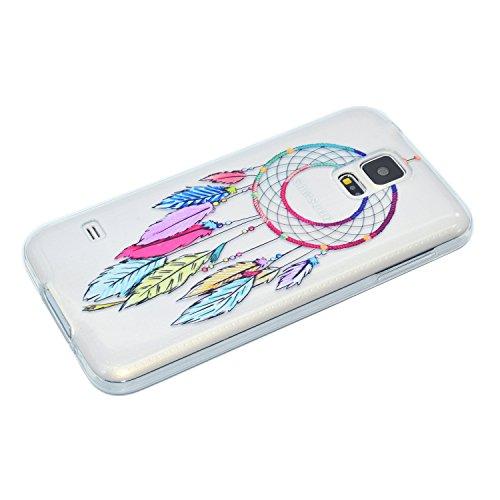 Coque Samsung Galaxy S5 Mini SV Mini SM-G800 ,BONROY® Ultra-Mince Soft Silicone Etui de Protection pour Modèle de peinture Souple Gel TPU Bumper Anti-Scratch Housse Case Cover Pour Samsung Galaxy S5 M Carillons de vent