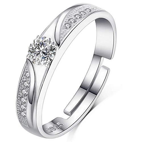 fca2b7aa041fa5 Brilliant Jewels Anello da Donna Regolabile in Argento Sterling 925 |  Regalo Classico ed Elegante per