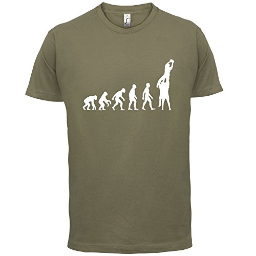 Evolution of Rugby Gasse - Herren T-Shirt - 13 Farben Khaki