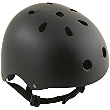Oxford Bomber - Casco para bicicleta BMX, color negro (54-58 cm)