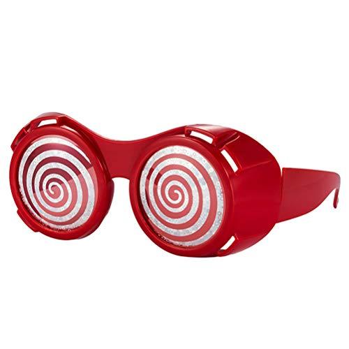 Amosfun Halloween lustige Brille blenden Augapfel Brille Foto Requisiten Partyzubehör (rot)