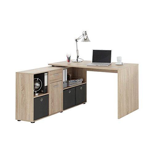 FMD Möbel 353-001 Schreibtisch-Winkelkombination Tisch ca. 136 x 75 x 68 cm, Regal ca. 137 x 71 x 33 cm - 3