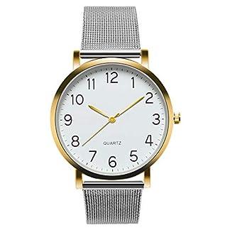 MJARTORIA-Herren-Analog-Quarzuhr-Silber-Mesh-Edelstahl-Armband-Gold-Farbe-Gehuse-Schwarz-Zifferblatt-Uhr-Mnner-Business-Armbanduhr-Geschenk