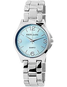 Excellanc Damen Uhr Armbanduhr mit Metallband