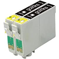 2 Compatibile Nero Cartuccia stampante per sostituire T0441 per l'uso in Epson Stylus C64, C64 Photo Edition, C66, C68, C84, C84 Photo Edition, C84N, C84WN, C86, C86 Photo Edition, CX3600, CX3650, CX4600, CX6400, CX6600